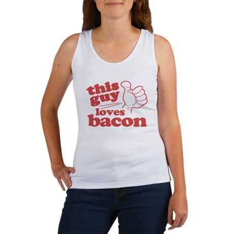 This Guy Loves Bacon Women's Tank Top