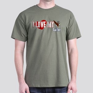 I Love My Sailor Dark T-Shirt