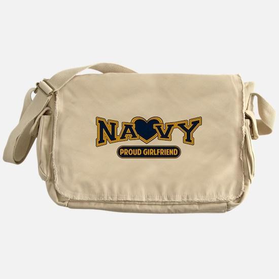Navy Girlfriend Messenger Bag