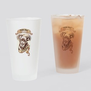 Pikes Peak Pitbulls Drinking Glass