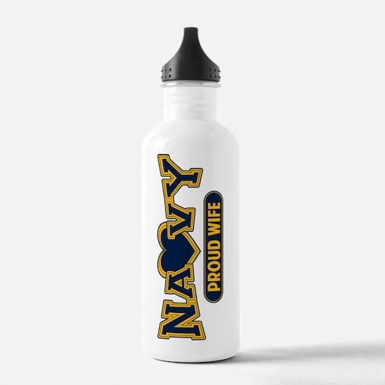 Navy Wife Water Bottle