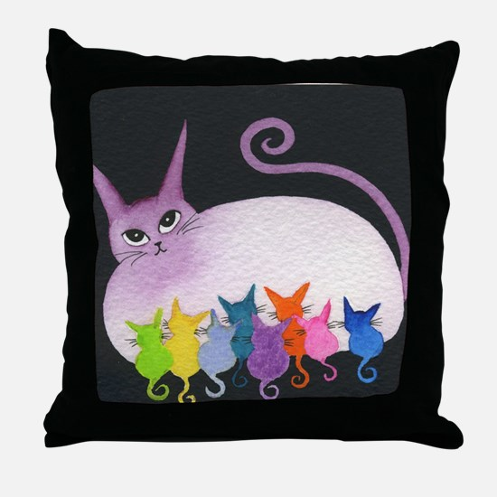 Easter Island Stray Cats Pillow