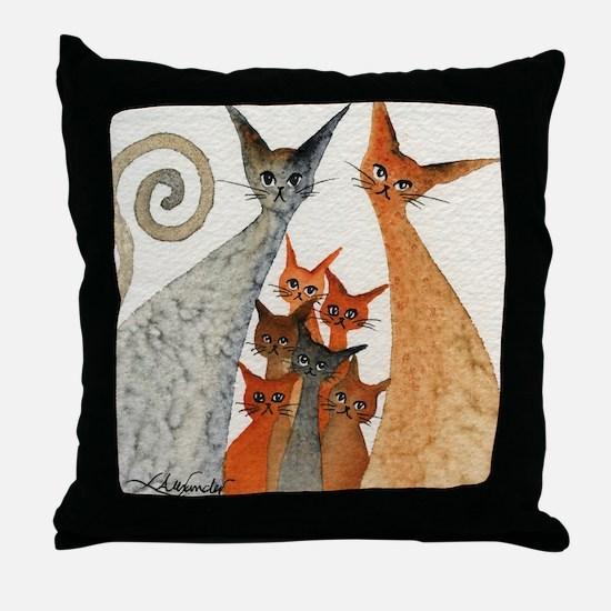 Texarcana Stray Cats Throw Pillow