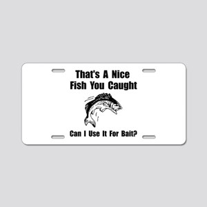 Fish Bait Aluminum License Plate