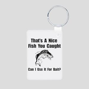 Fish Bait Aluminum Photo Keychain