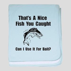 Fish Bait baby blanket