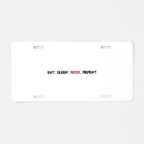 Rock Repeat Aluminum License Plate