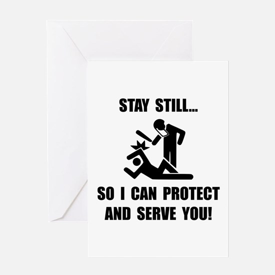 Protect Serve Greeting Card