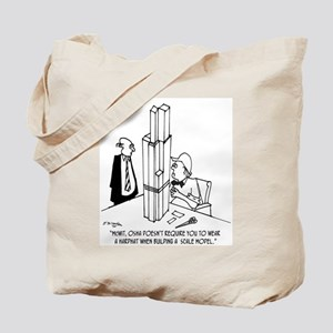 Wear A Hard Hat While Building A Model Tote Bag
