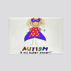 Autism Is My Super Power! Rectangle Magnet