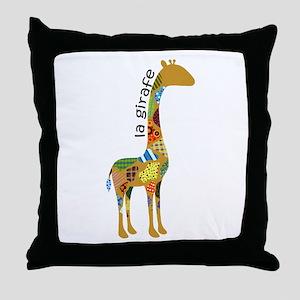 La Girafe Throw Pillow