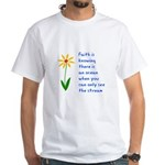 Faith is Knowing V3 White T-Shirt