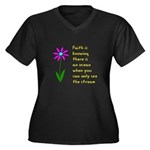 Faith is Knowing V3 Women's Plus Size V-Neck Dark