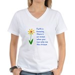 Faith is Knowing V3 Women's V-Neck T-Shirt