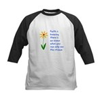 Faith is Knowing V3 Kids Baseball Jersey