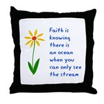 Faith is Knowing V3 Throw Pillow
