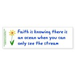 Faith is Knowing V3 Sticker (Bumper 10 pk)