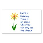 Faith is Knowing V3 Sticker (Rectangle 10 pk)