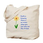 Faith is Knowing V3 Tote Bag