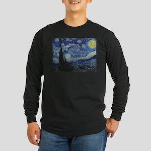Starry Trekkie Night Long Sleeve Dark T-Shirt