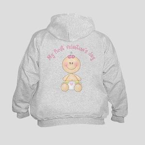 Baby 1st Valentine Kids Hoodie