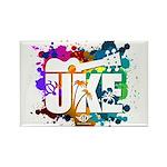 Color Me Uke! Rectangle Magnet
