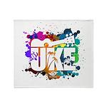 Color Me Uke! Throw Blanket
