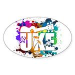 Color Me Uke! Sticker (Oval)