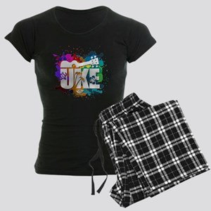 Color Me Uke! Women's Dark Pajamas