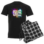 Color Me Uke! Men's Dark Pajamas