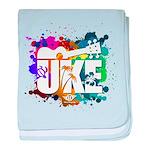 Color Me Uke! baby blanket