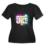 Color Me Uke! Women's Plus Size Scoop Neck Dark T-