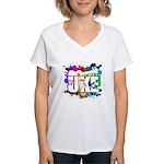 Color Me Uke! Women's V-Neck T-Shirt