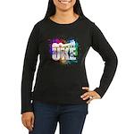 Color Me Uke! Women's Long Sleeve Dark T-Shirt