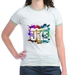 Color Me Uke! Jr. Ringer T-Shirt