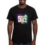 Color Me Uke! Men's Fitted T-Shirt (dark)