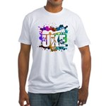Color Me Uke! Fitted T-Shirt