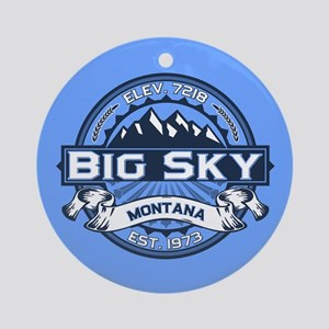 Big Sky Blue Ornament (Round)