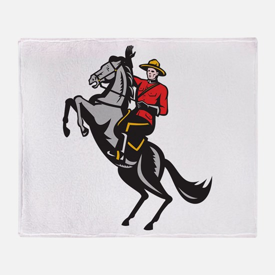 Canadian Police Mountie Throw Blanket