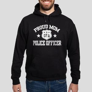 Proud Mom of a Police Officer Hoodie (dark)