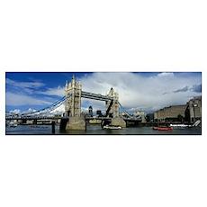 England, London, Tower Bridge Poster