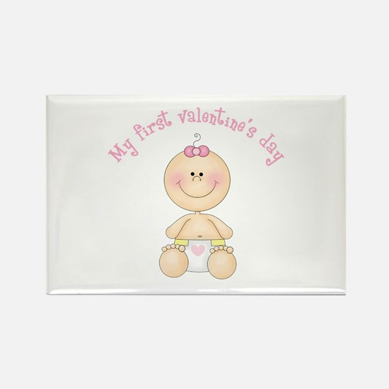Baby 1st Valentine Rectangle Magnet (10 pack)