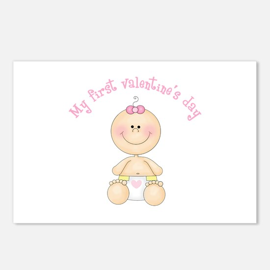 Baby 1st Valentine Postcards (Package of 8)
