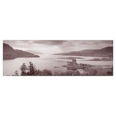 Eilean Donan Castle on Loch Alsh and Duich Scotlan Poster