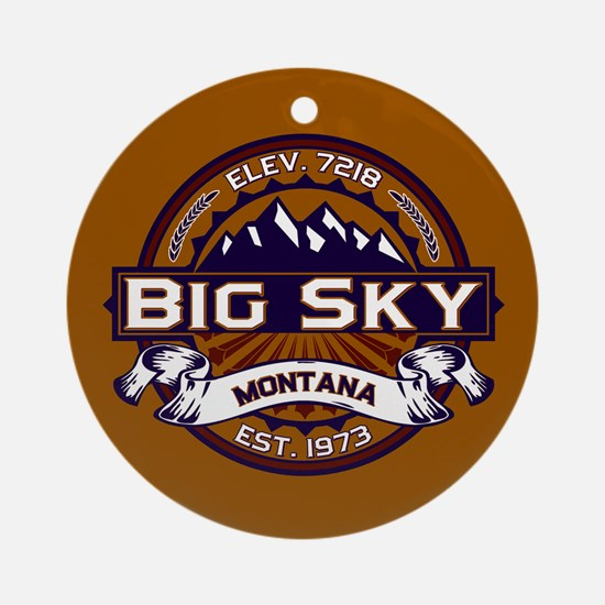 Big Sky Vibrant Ornament (Round)