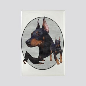 Three Dobes Retro Rectangle Magnet