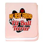 Pit Bull Terrier baby blanket