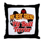 Pit Bull Terrier Throw Pillow