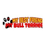 Pit Bull Terrier 42x14 Wall Peel