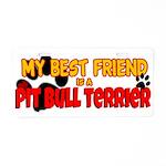 Pit Bull Terrier Aluminum License Plate